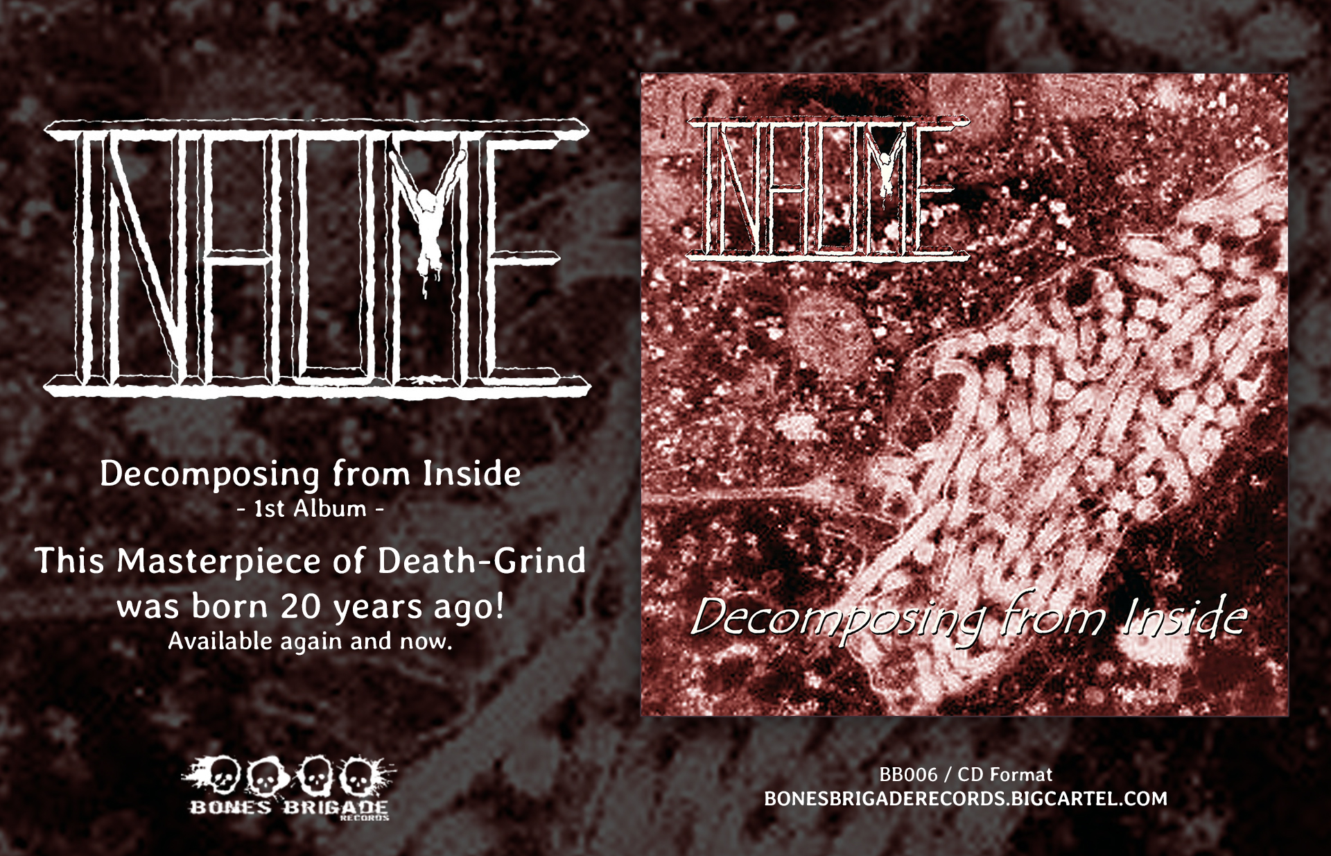Inhume - Decomposing From Inside - CD Re-issue on Bones Brigade Records