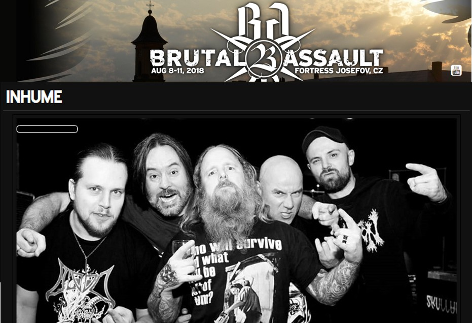 Inhume @ Brutal Assault 2018